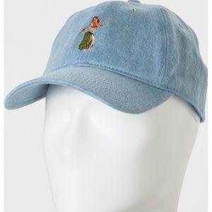 Men's Blue Denim Hula Dad Baseball Hat